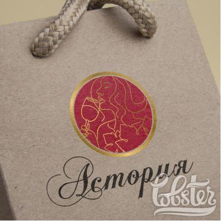 разработали фирменный логотип для магазина Астория